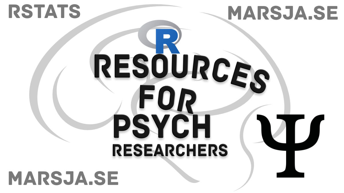 R Resources for Psychologists