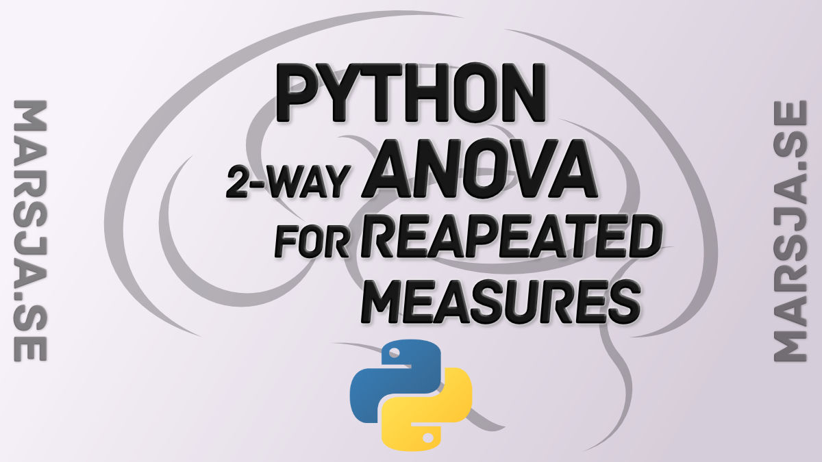 2-way ANOVA for repeated measures in Python