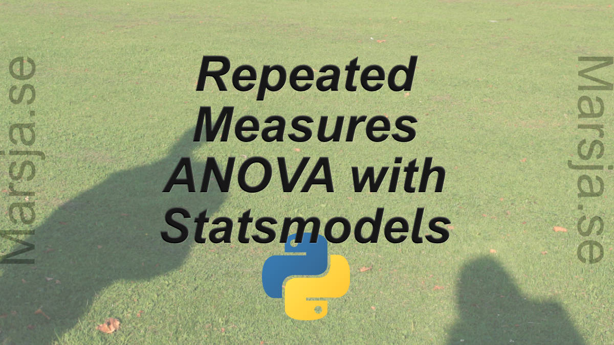 repeated measures anova with statsmodels