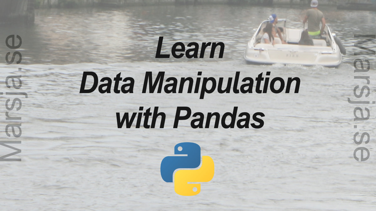 data manipulation in python with pandas