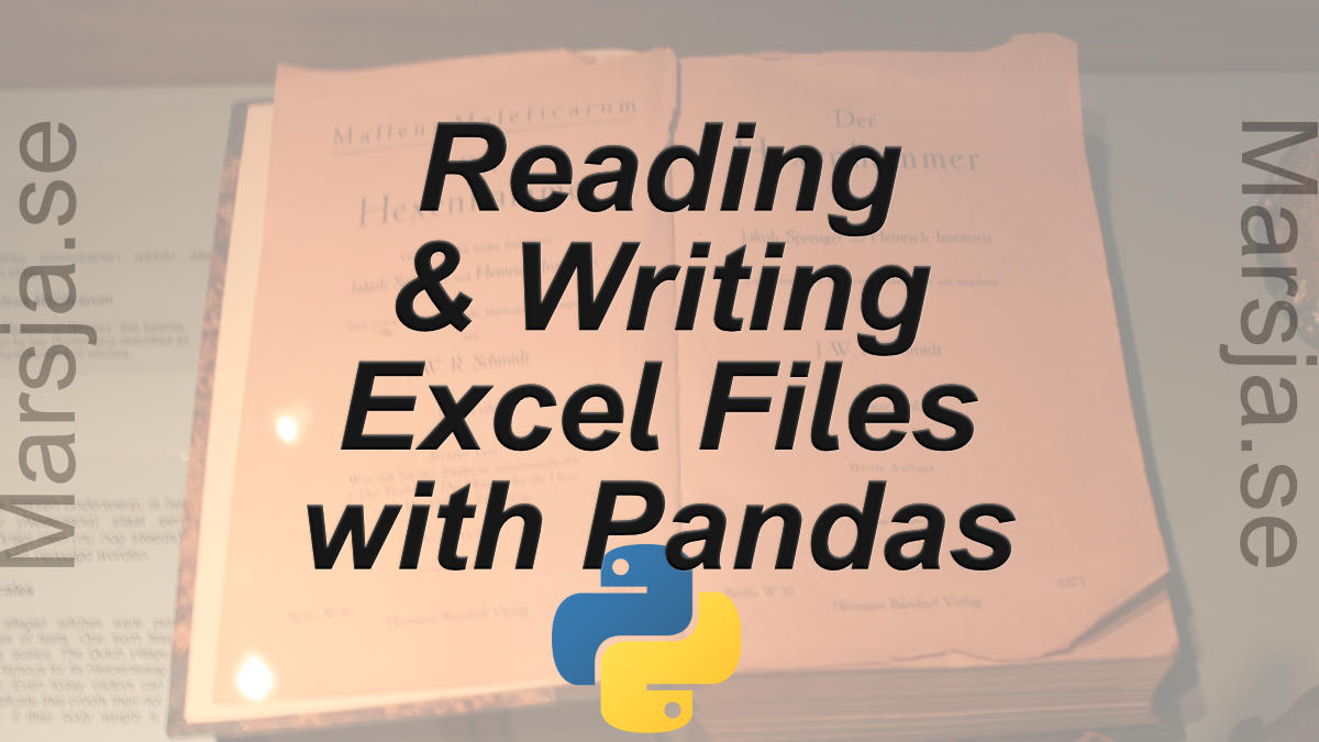 Pandas Excel Tutorial: How to Read and Write Excel files