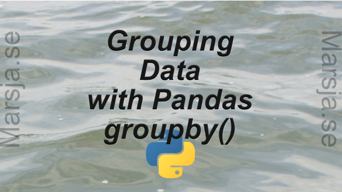 pandas groupby tutorial