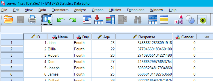 SPSS interface