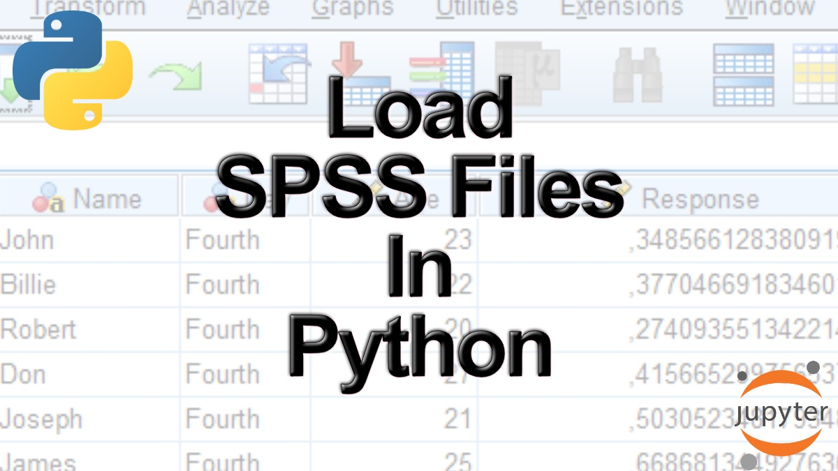 How to Read & Write SPSS Files in Python using Pandas