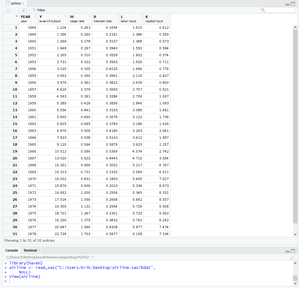 read sas in R