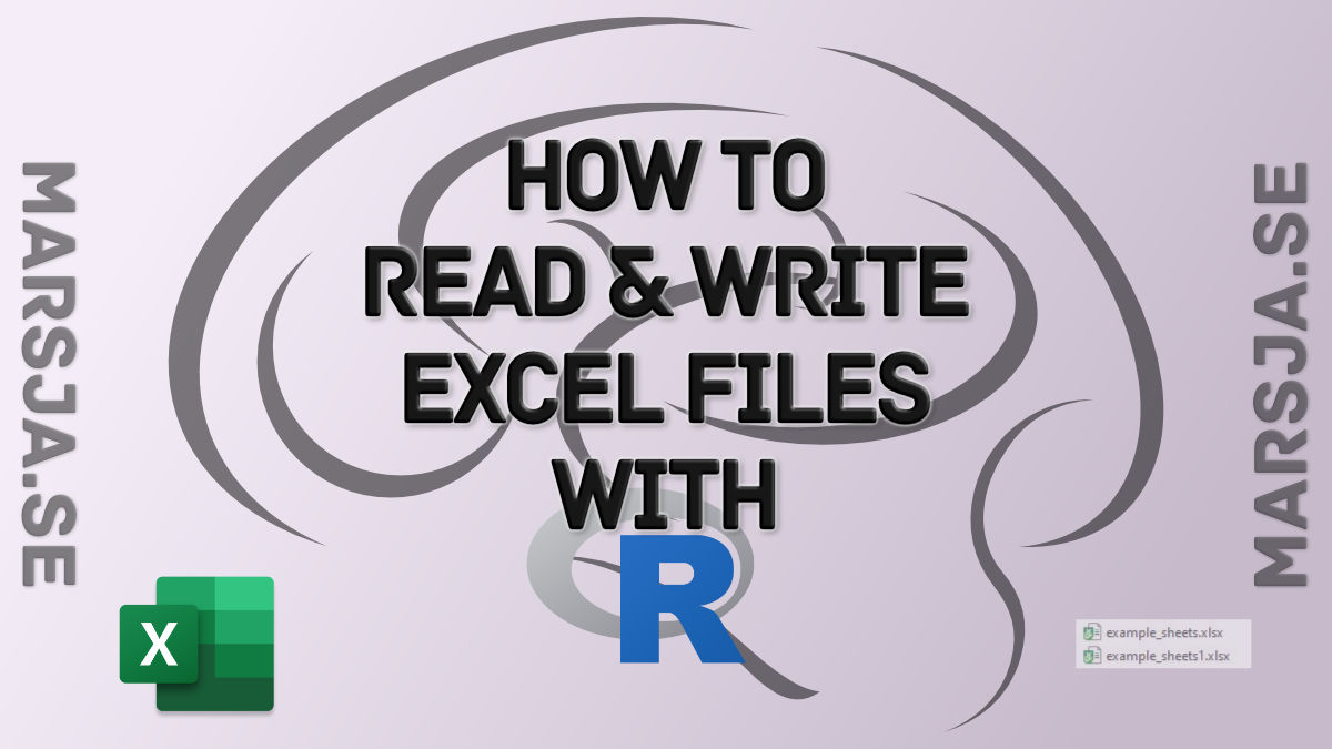 R Excel Tutorial: How to Read and Write xlsx files in R