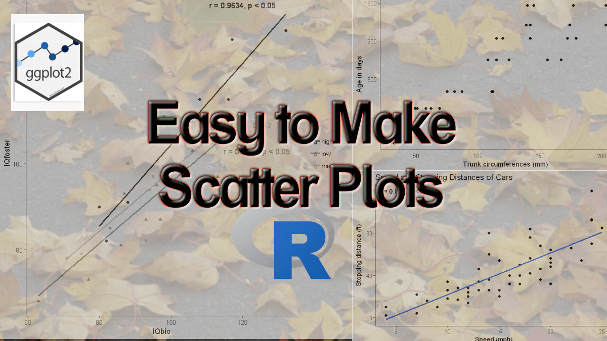 How to Make a Scatter Plot in R with Ggplot2