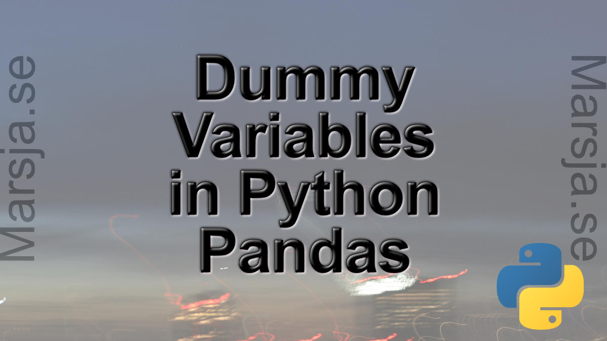 Creating dummy variables in Python get_dummies() Pandas