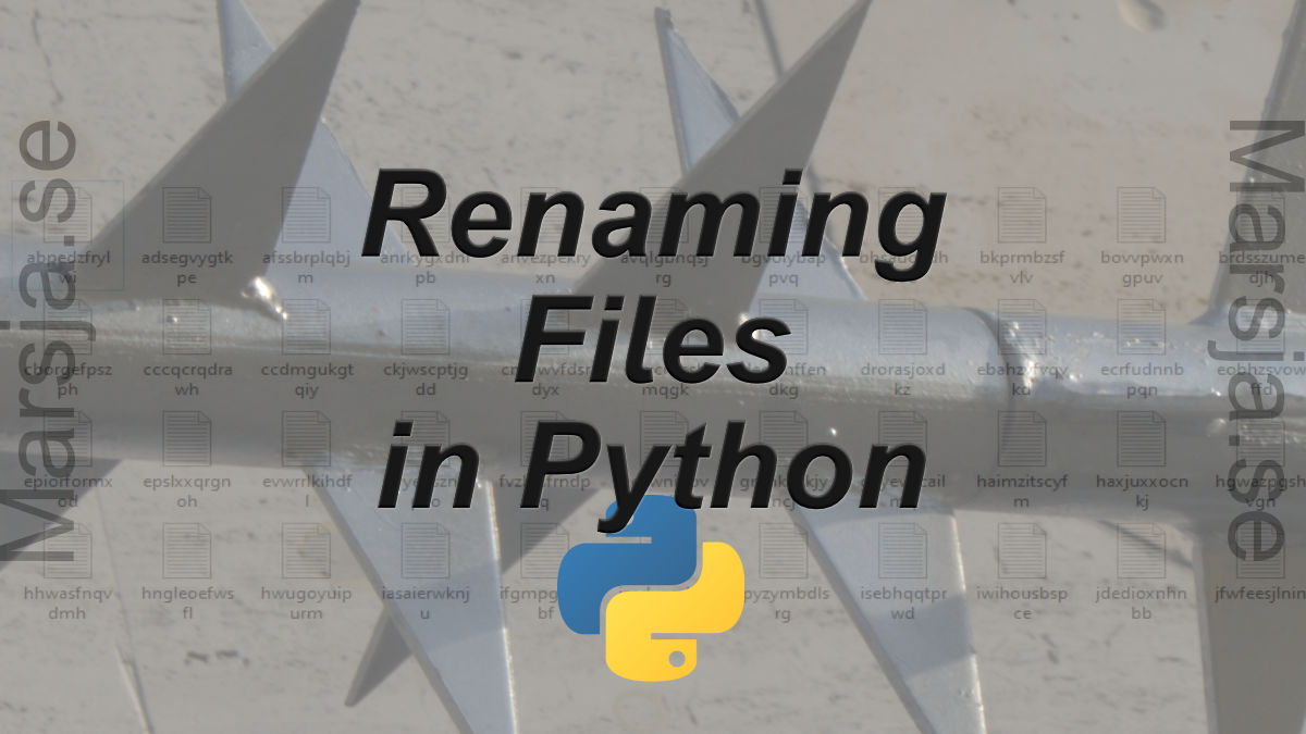 Rename Files in Python: A Guide with Examples using os.rename()