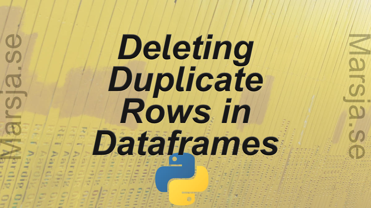 Pandas drop_duplicates(): How to Drop Duplicated Rows