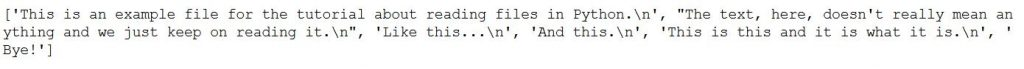 How to read a file in Python to a list.