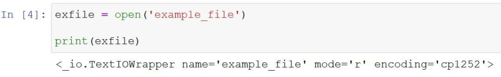 Simple example of how to read a file in Python