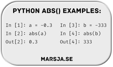absolute value in python