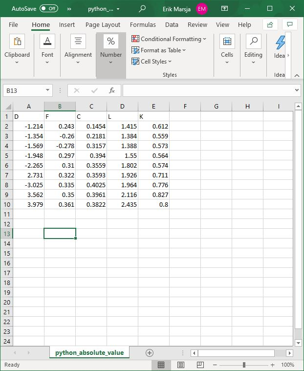excel file to import using pandas