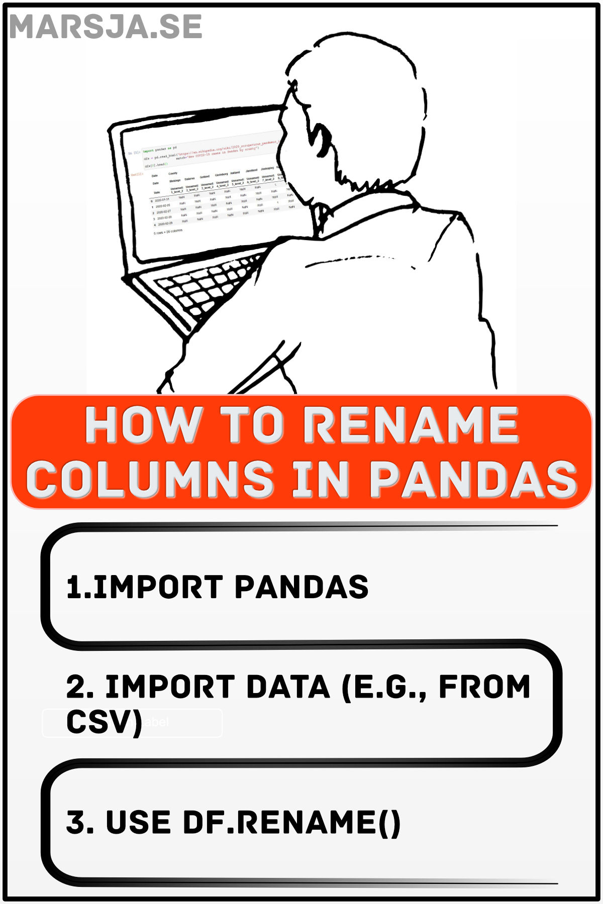 changing column names in pandas