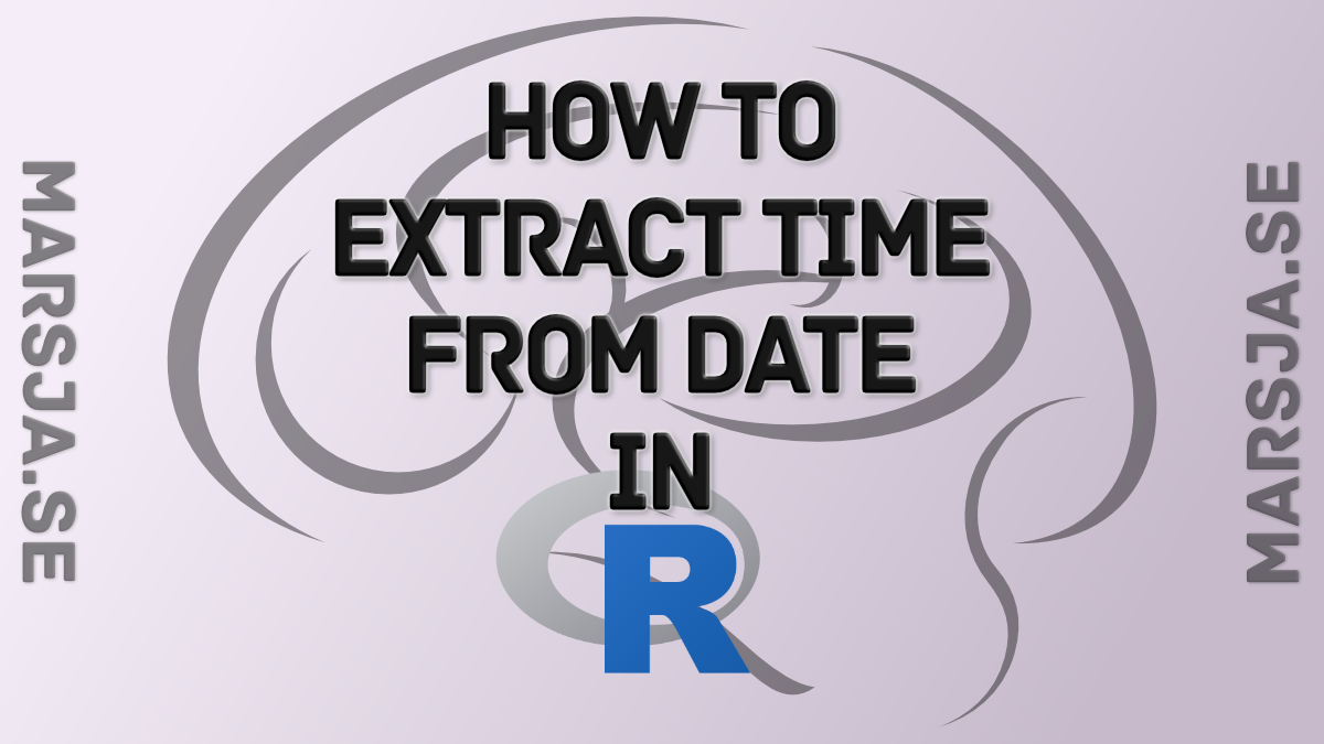 r extract time