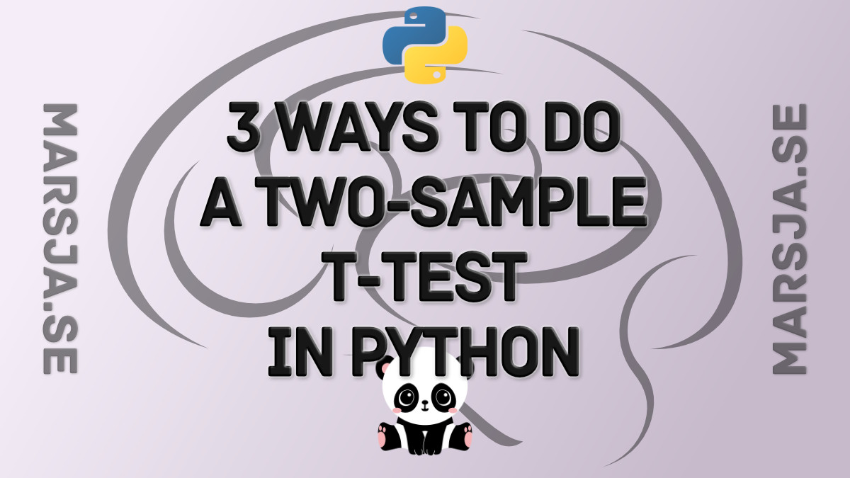two sample t-test Python