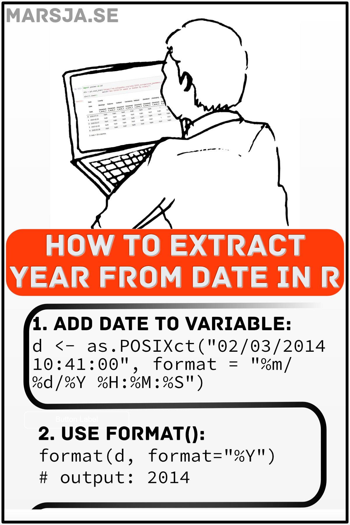 R Get Year from Date in Two Simple Steps