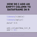 How to add an empty column to dataframe in R