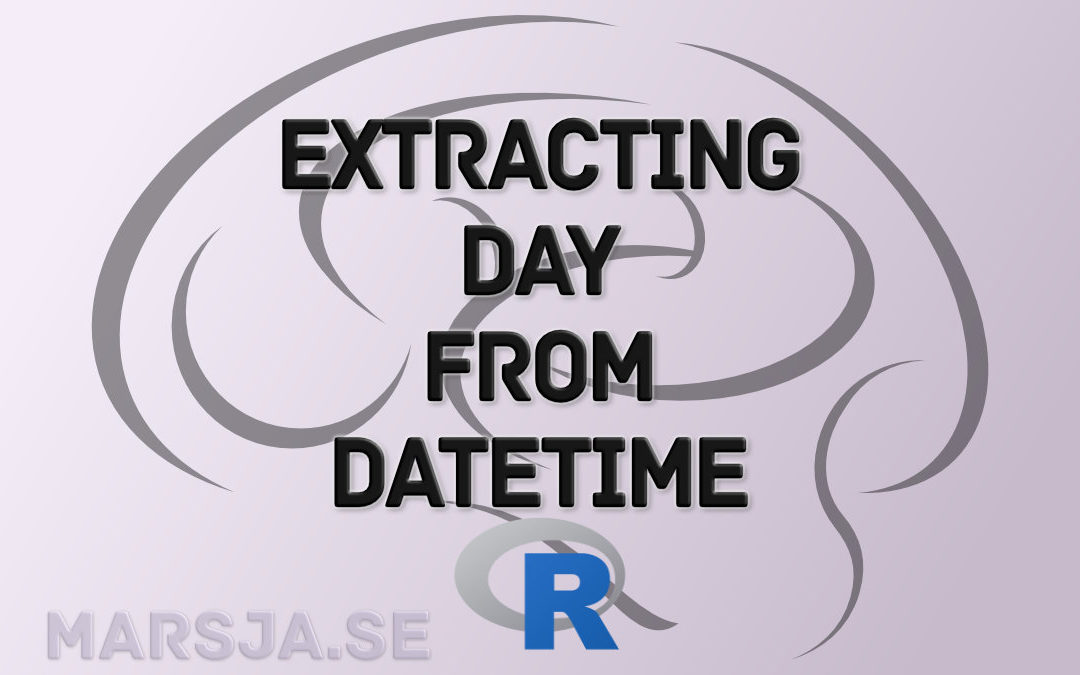 Learn how to extract days from datetime in R - lubridate - format - readr
