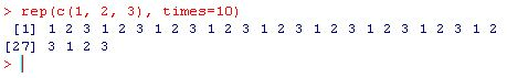 generate a sequence of numbers in R