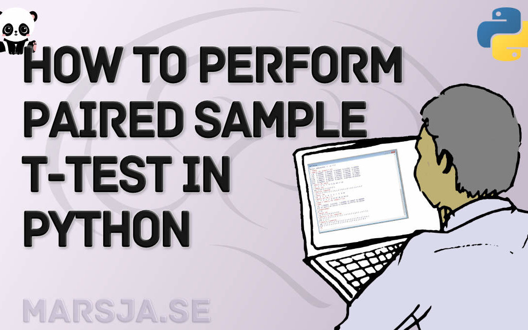 dependent sample t-test in Python