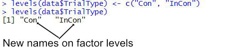 rename factor levels r