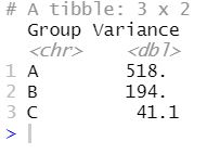 checking the variance before doing the brown forsythe test in R