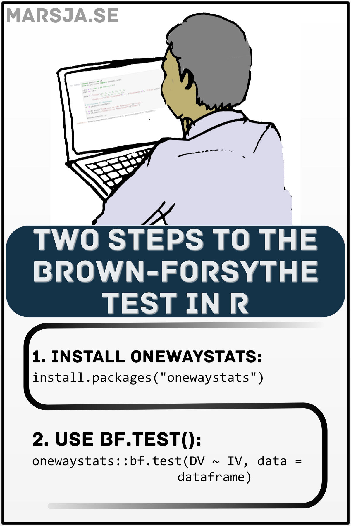 brown forsythe test in R: two steps