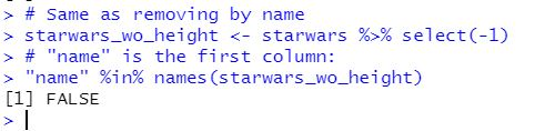 remove a column in R by index